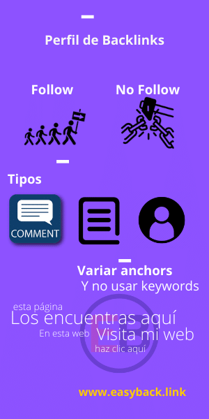 infografia perfil de backlinks