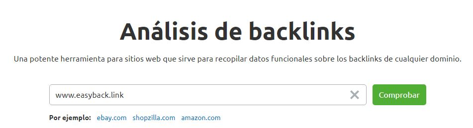 semrush - analisis de backlinks
